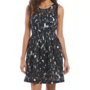 Apt. 9 Laser Cut Fit & Flare Scuba Dress
